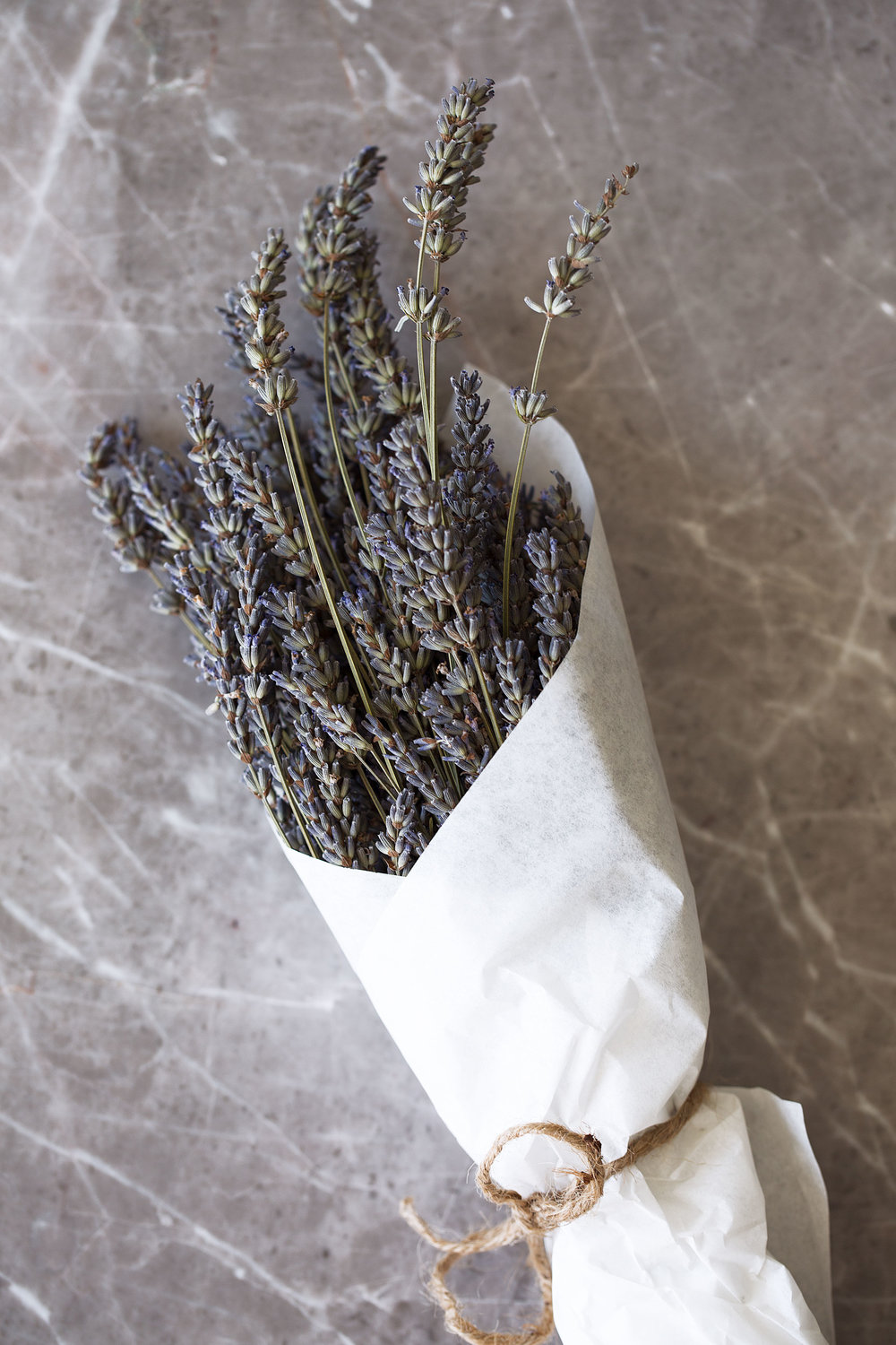 lavender bundle cooking with cocktail rings