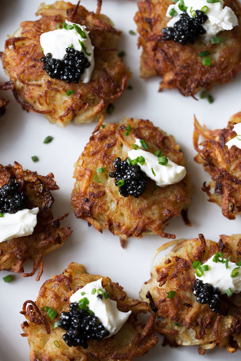 mini bougie latkes recipe from cooking with cocktail rings