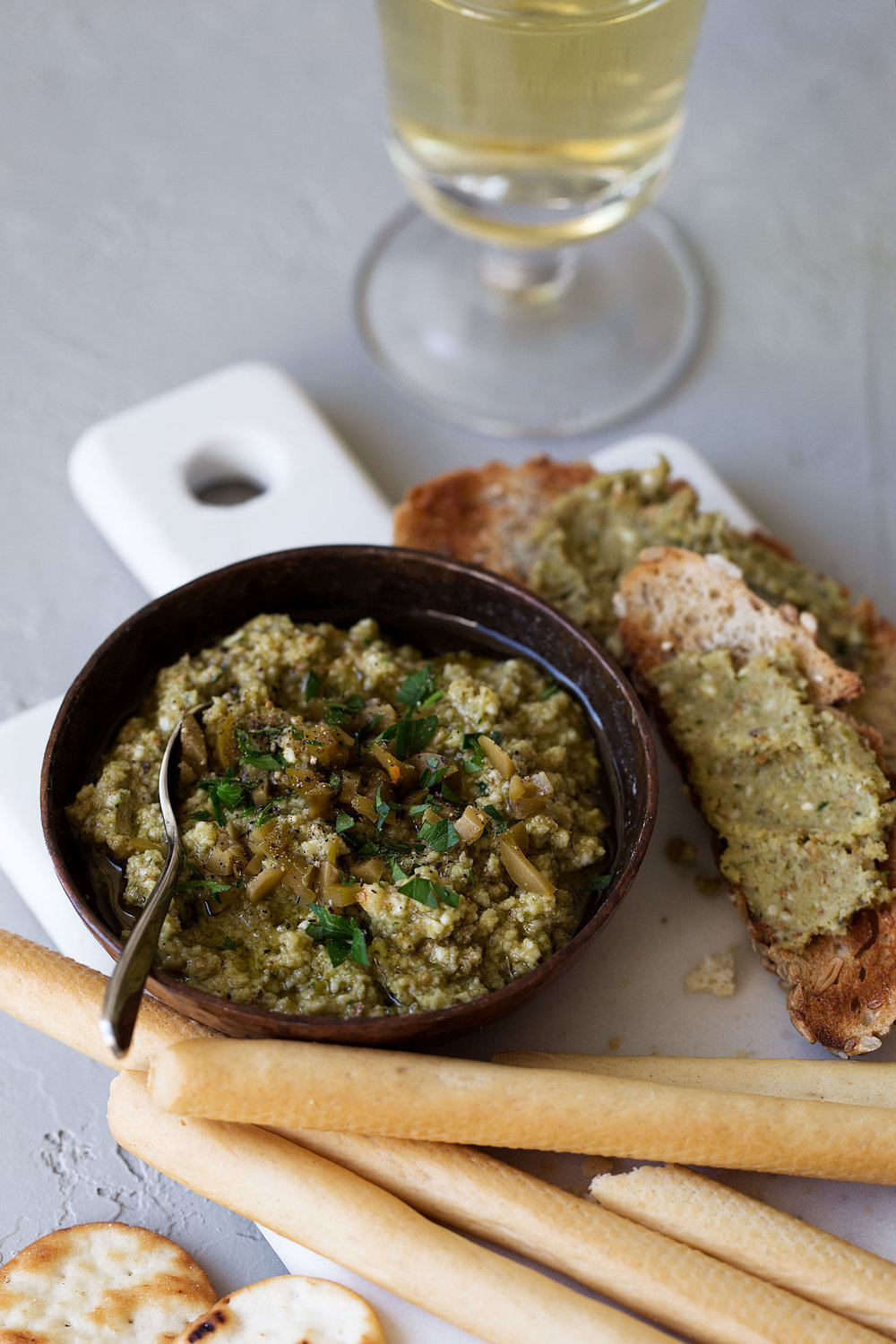 Green olive tapenade recipe from cooking with cocktail rings