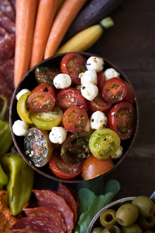 marinated tomato mozzarella salad