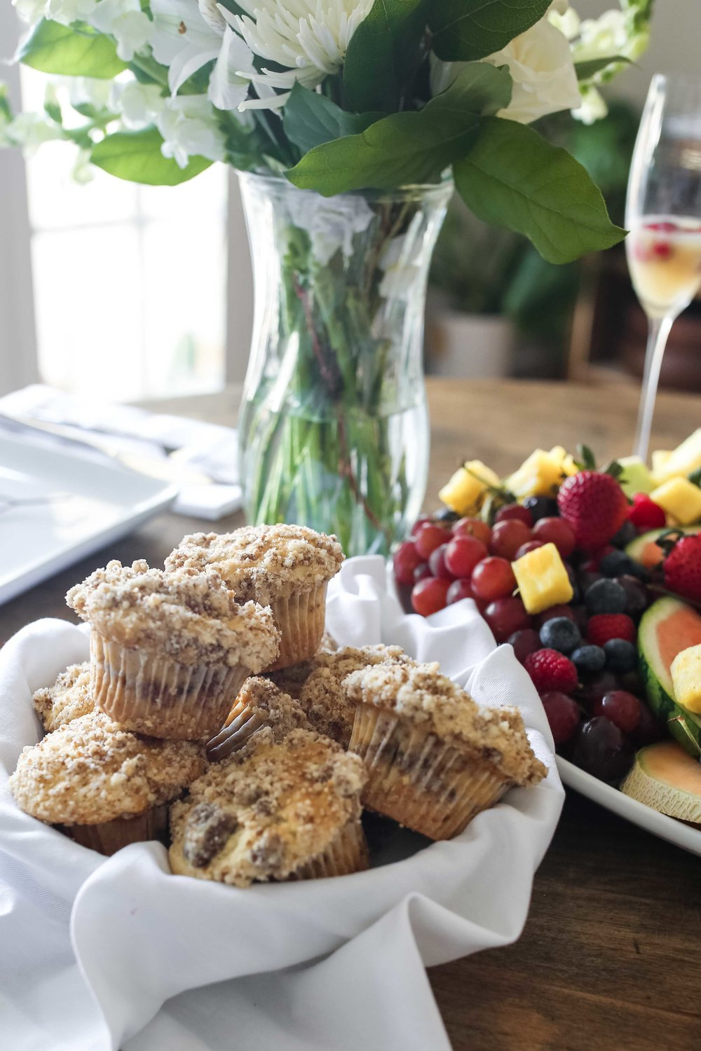 muffins and fruit california brunch american lamb