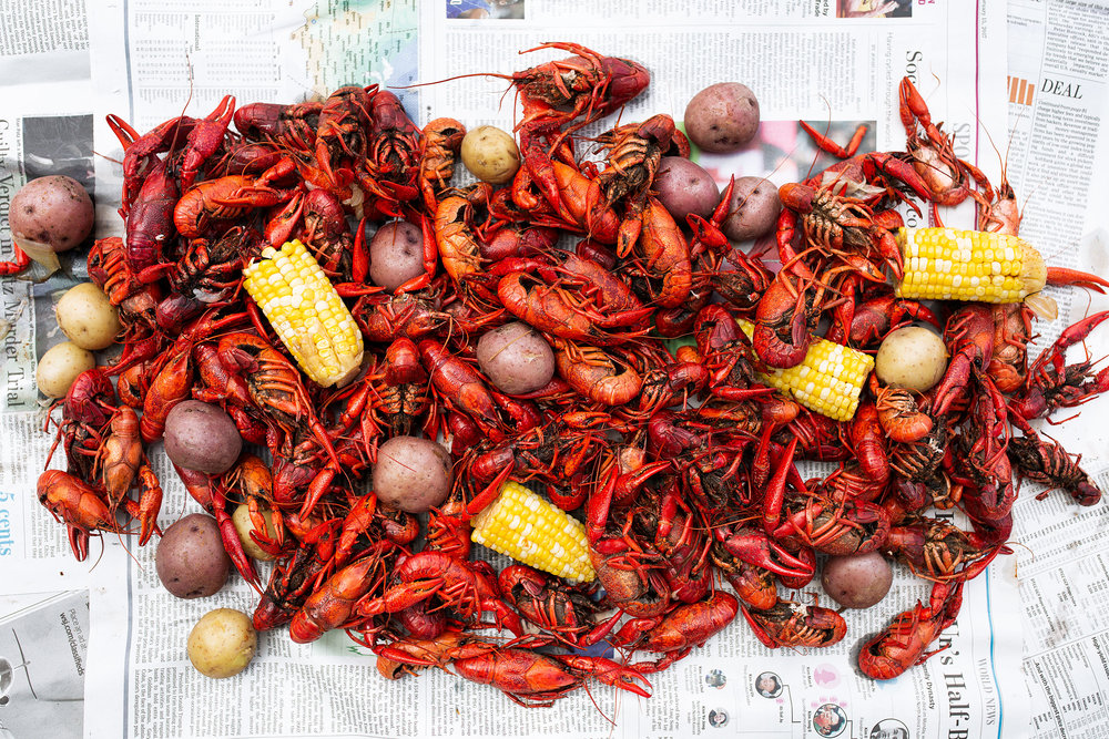 traditional crawfish boil recipe from cooking with cocktail rings