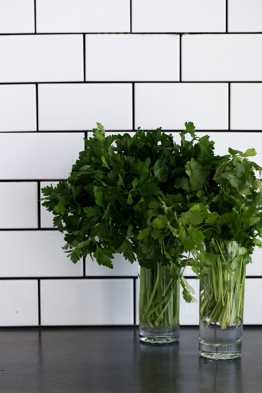 guide to a fully stocked kitchen cooking with cocktail rings cilantro and parsley