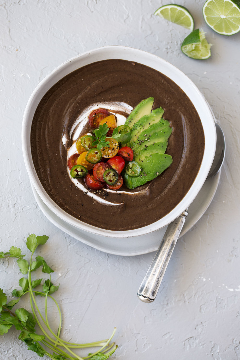 black bean soup with avocado and salsa recipe from cooking with cocktail rings with ca avocado