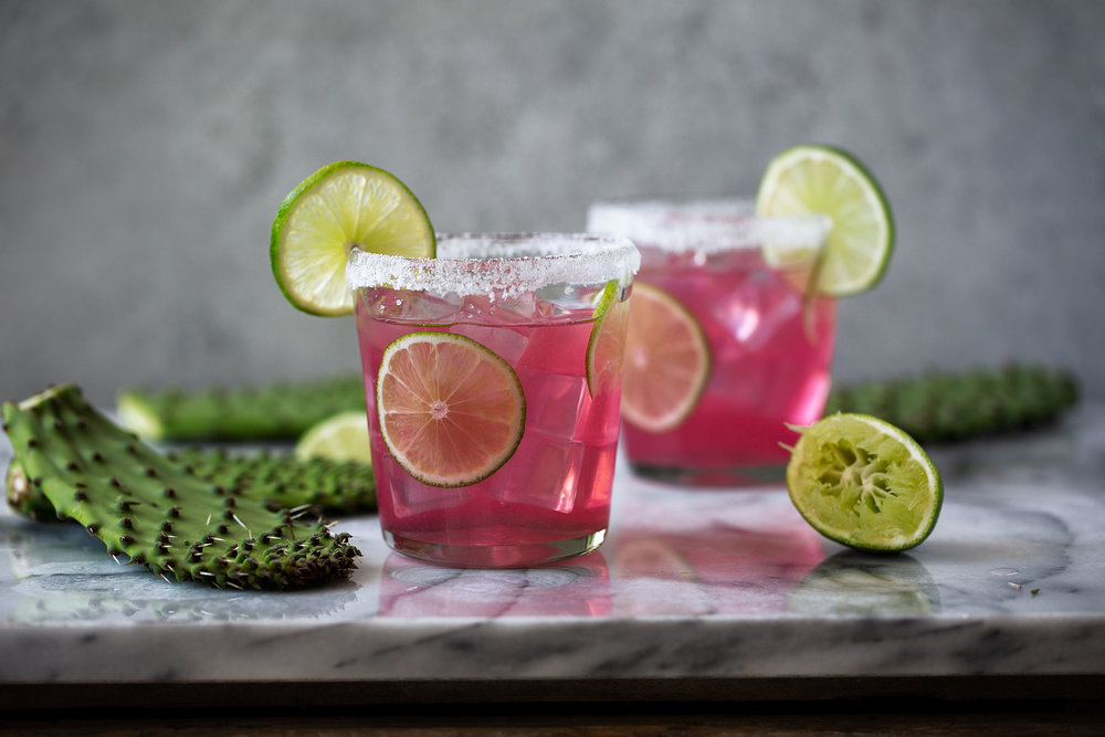 Prickly pear margarita recipe from cooking with cocktail rings