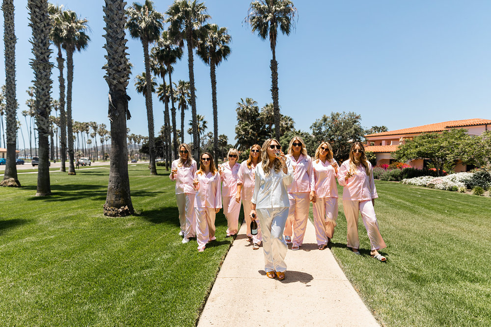 bridesmaids in pajamas santa barbara