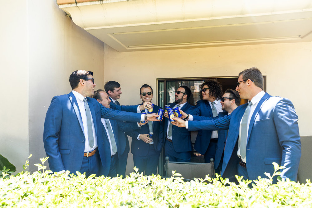 groomsmen getting ready santa barbara Sb