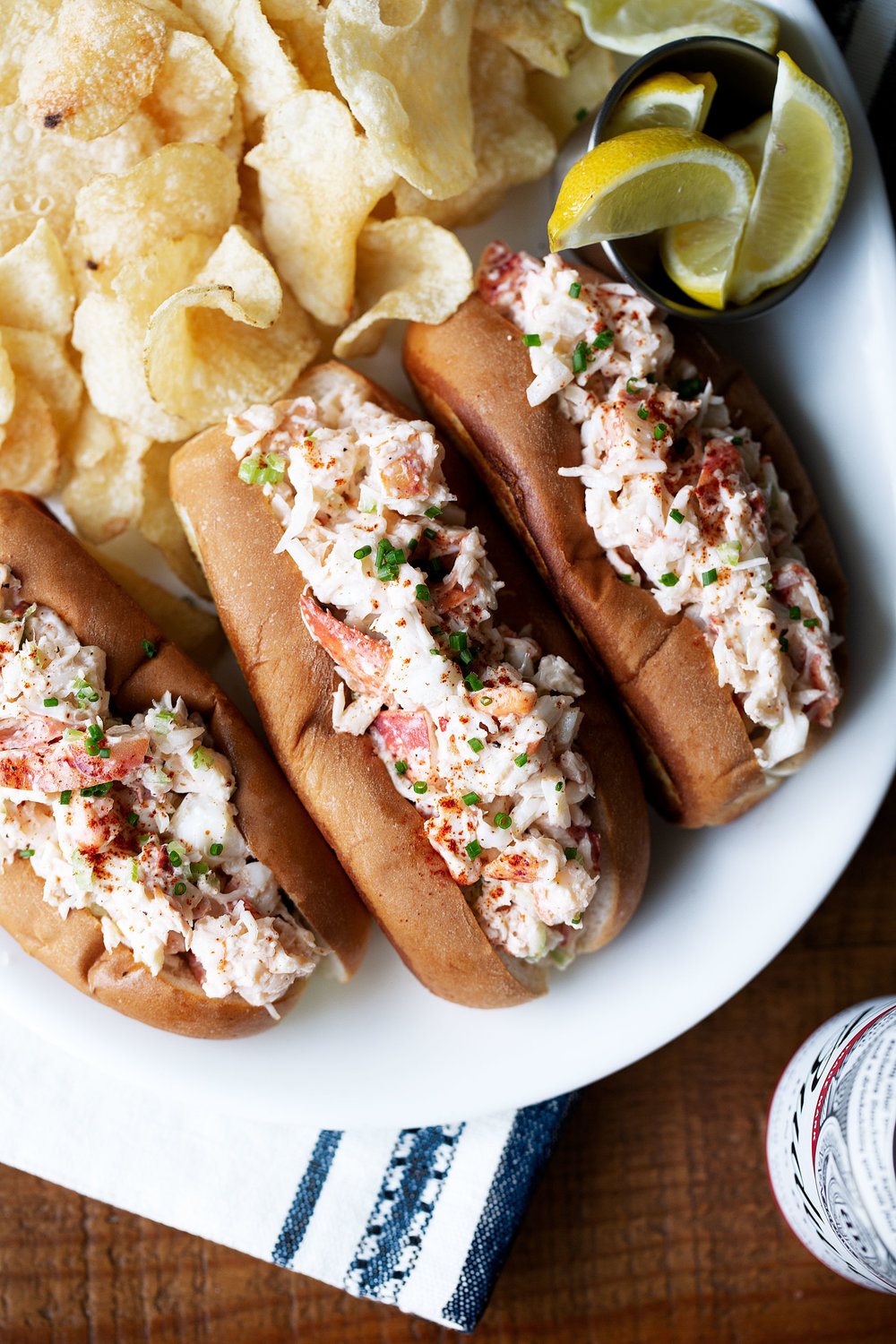 new england style lobster roll recipe from cooking with cocktail rings overhead