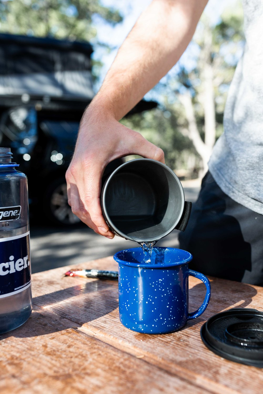 making coffee national park camping