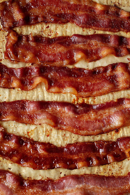 closeup bacon