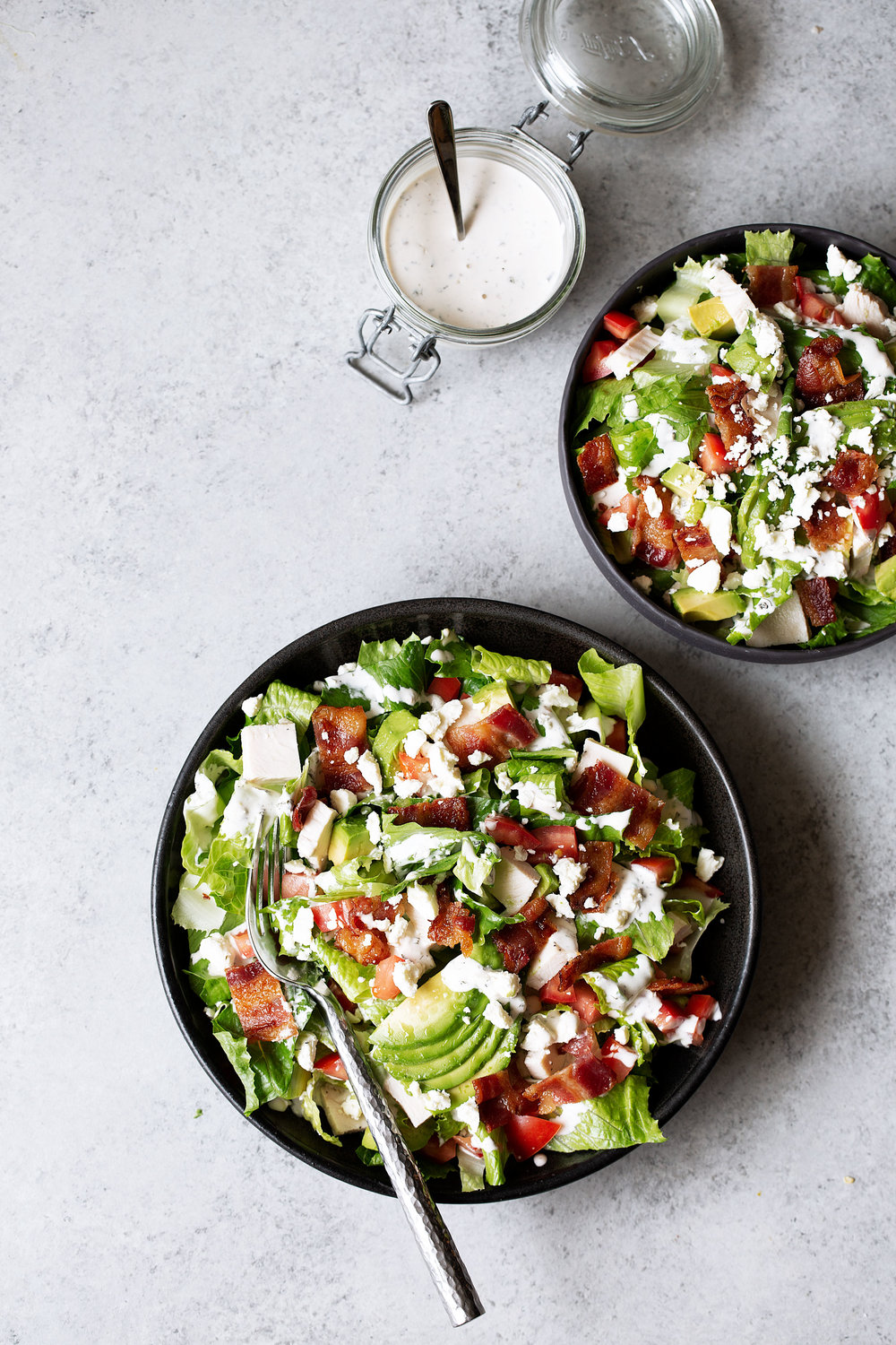 BLT salad recipe from cooking with cocktail rings