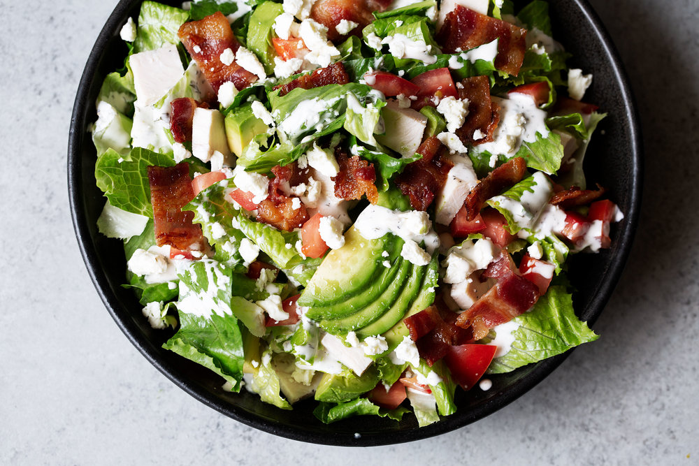 cookingwithcocktailrings bacon lettuce tomato salad summer