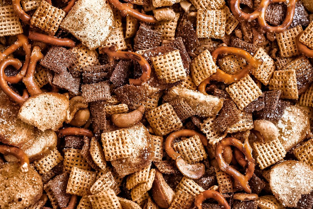 parmesan ranch chex party mix cooking with cocktail rings