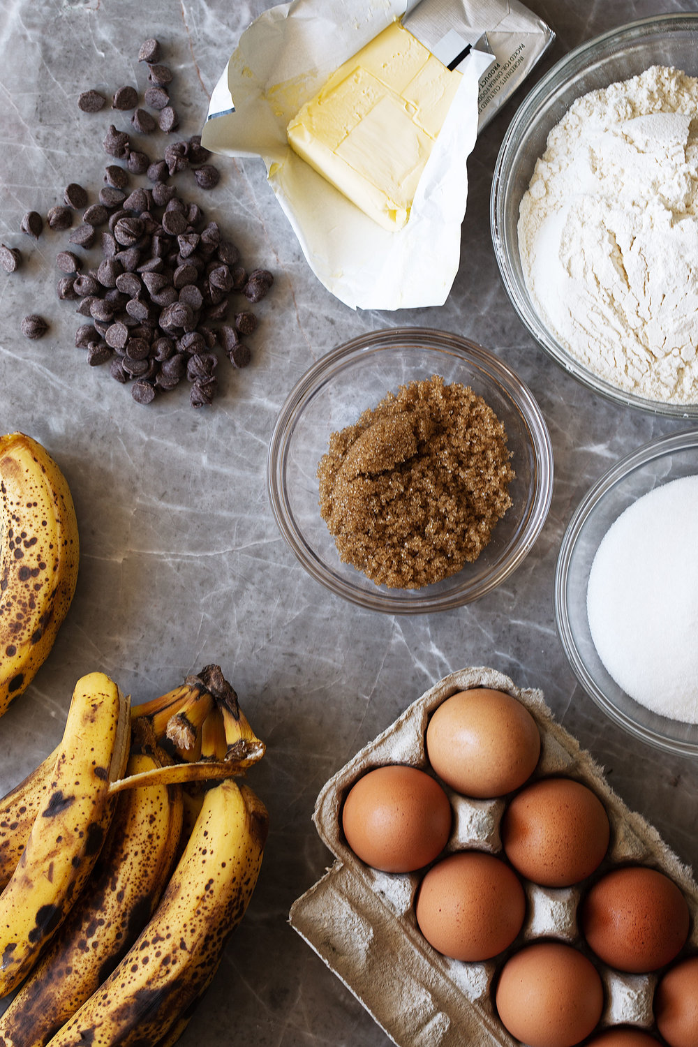 chocolate chip banana bread ingredients