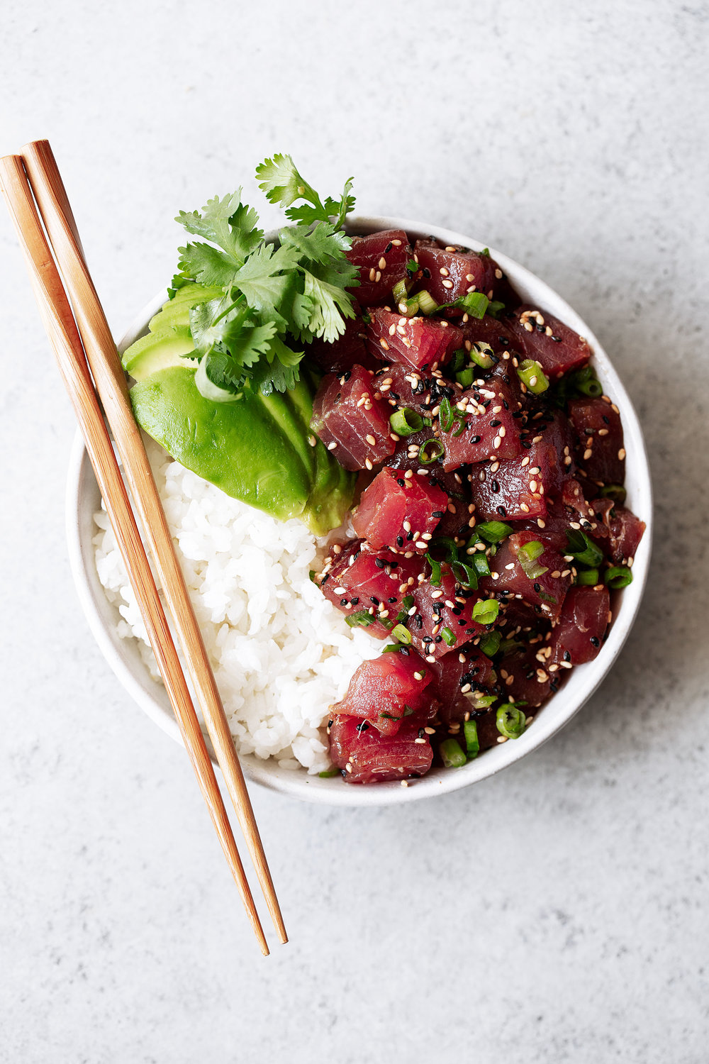 Hawaiian Ahi Tuna Poke recipe from cooking with cocktail rings