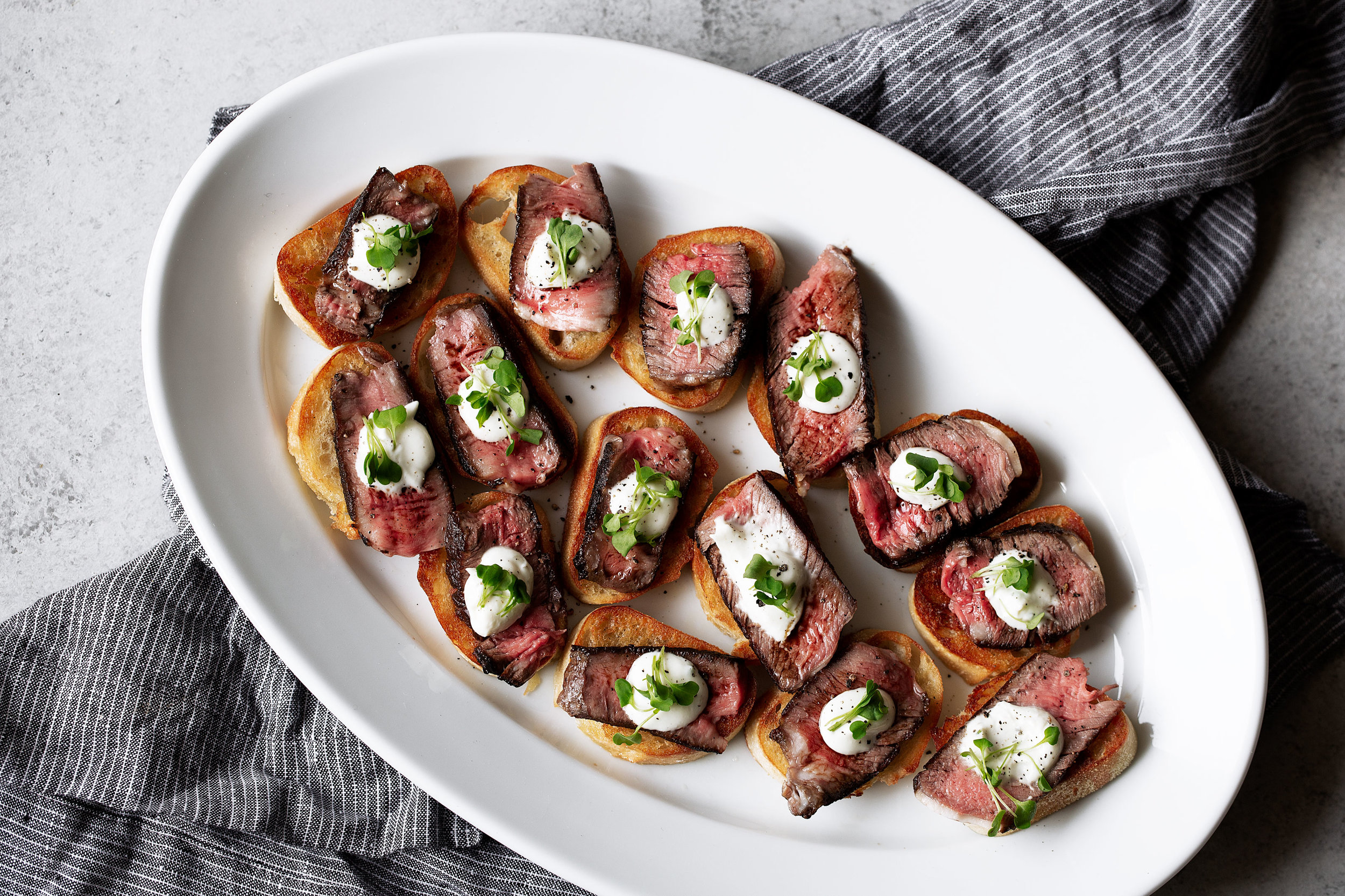 Steak & Boursin Cheese Crostini — Cooking with Cocktail Rings