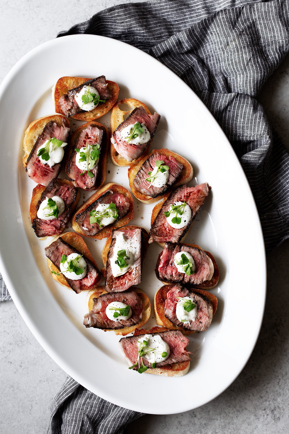 grilled ribeye steak and boursin cheese crostini recipe from cooking with cocktail rings appetizer
