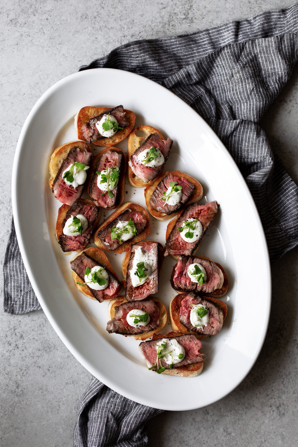 grilled ribeye steak and boursin cheese crostini recipe from cooking with cocktail rings food