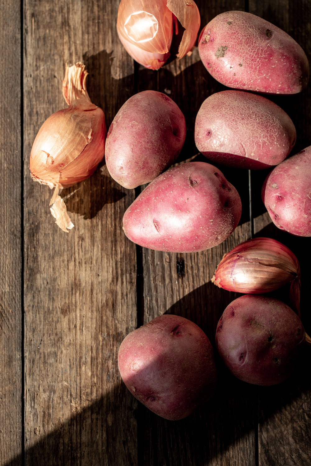 red potatoes and shallots ingredients thanksgiving side november