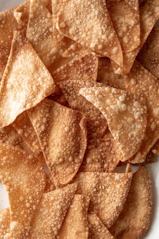 wonton nachos