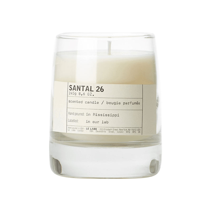 Le Labo Santal 26 Candle    I have both the candle and perfume in this scent and it makes my house feel so cozy. Plus you can customize the note on the label.