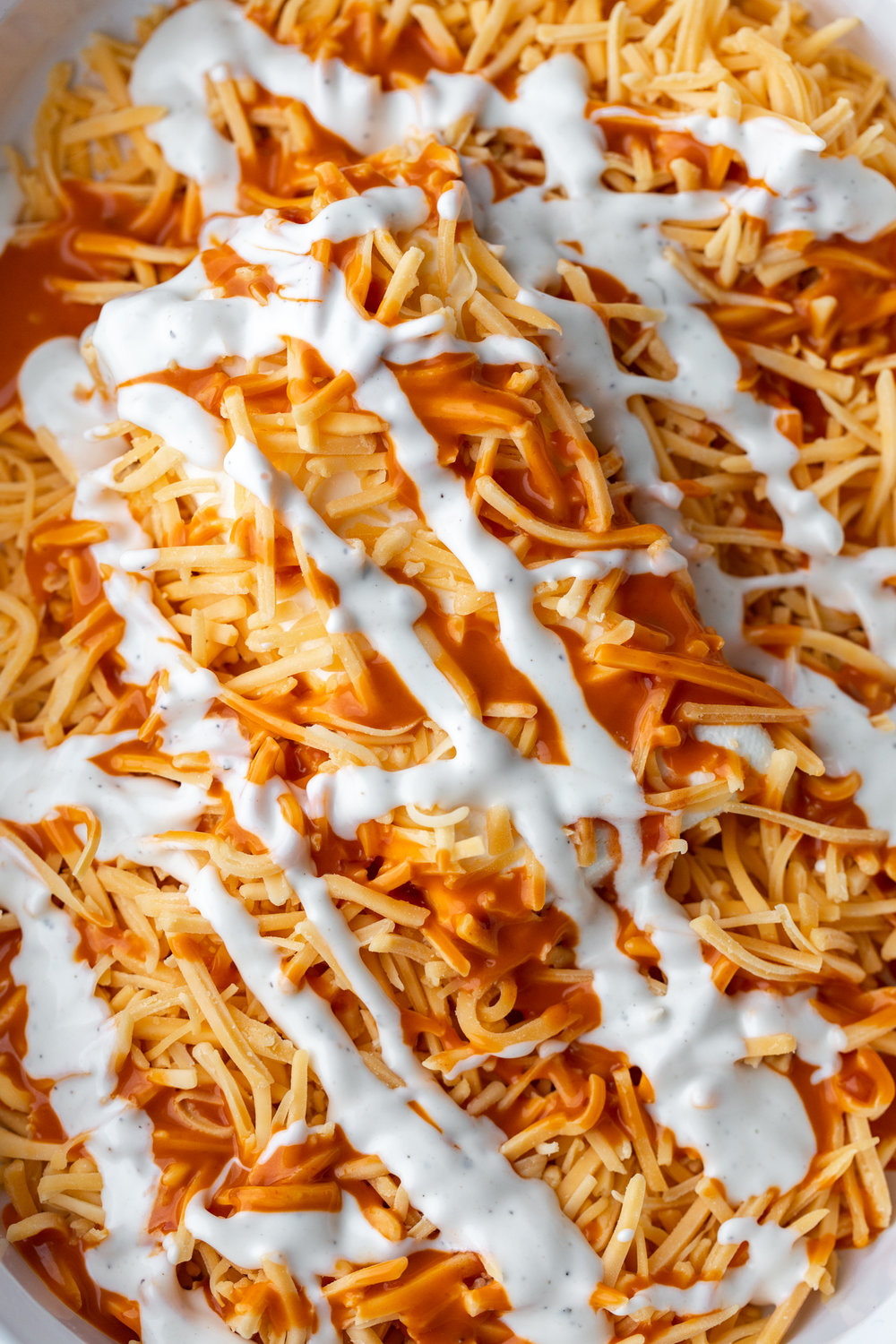 buffalo chicken dip cream cheese cheddar cheese