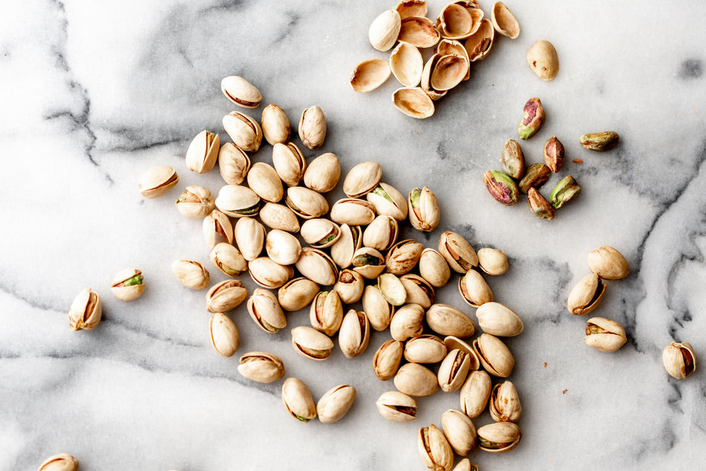 shelled pistachios from cooking with cocktail rings