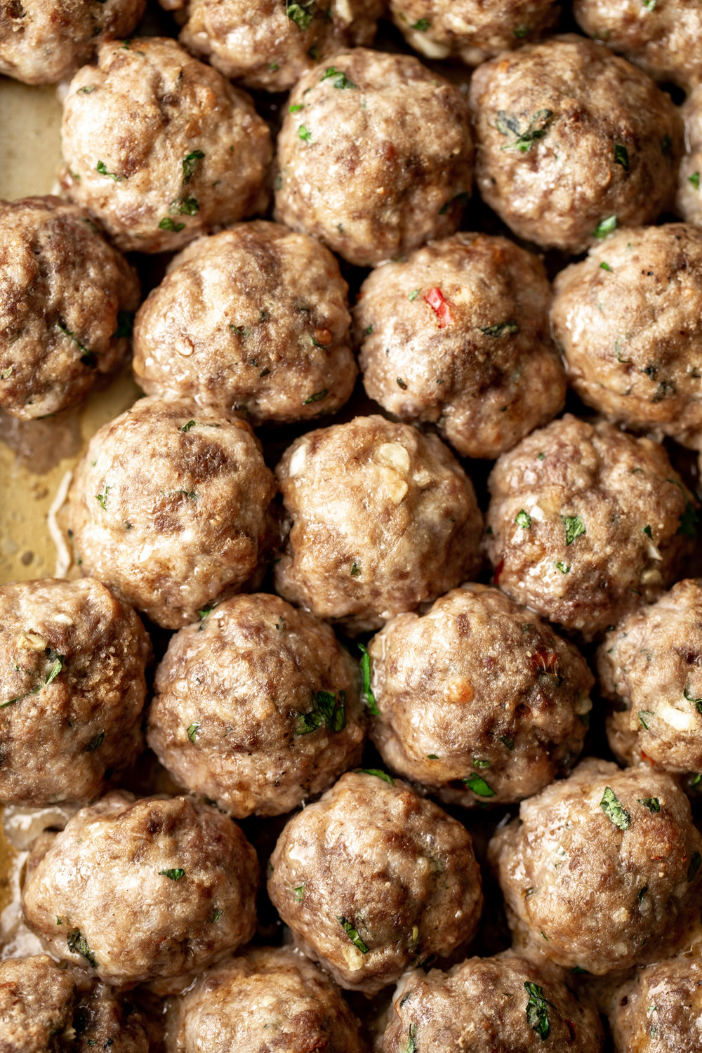 Meatball Subswith Spicy Beef and Pork Meatballs closeup