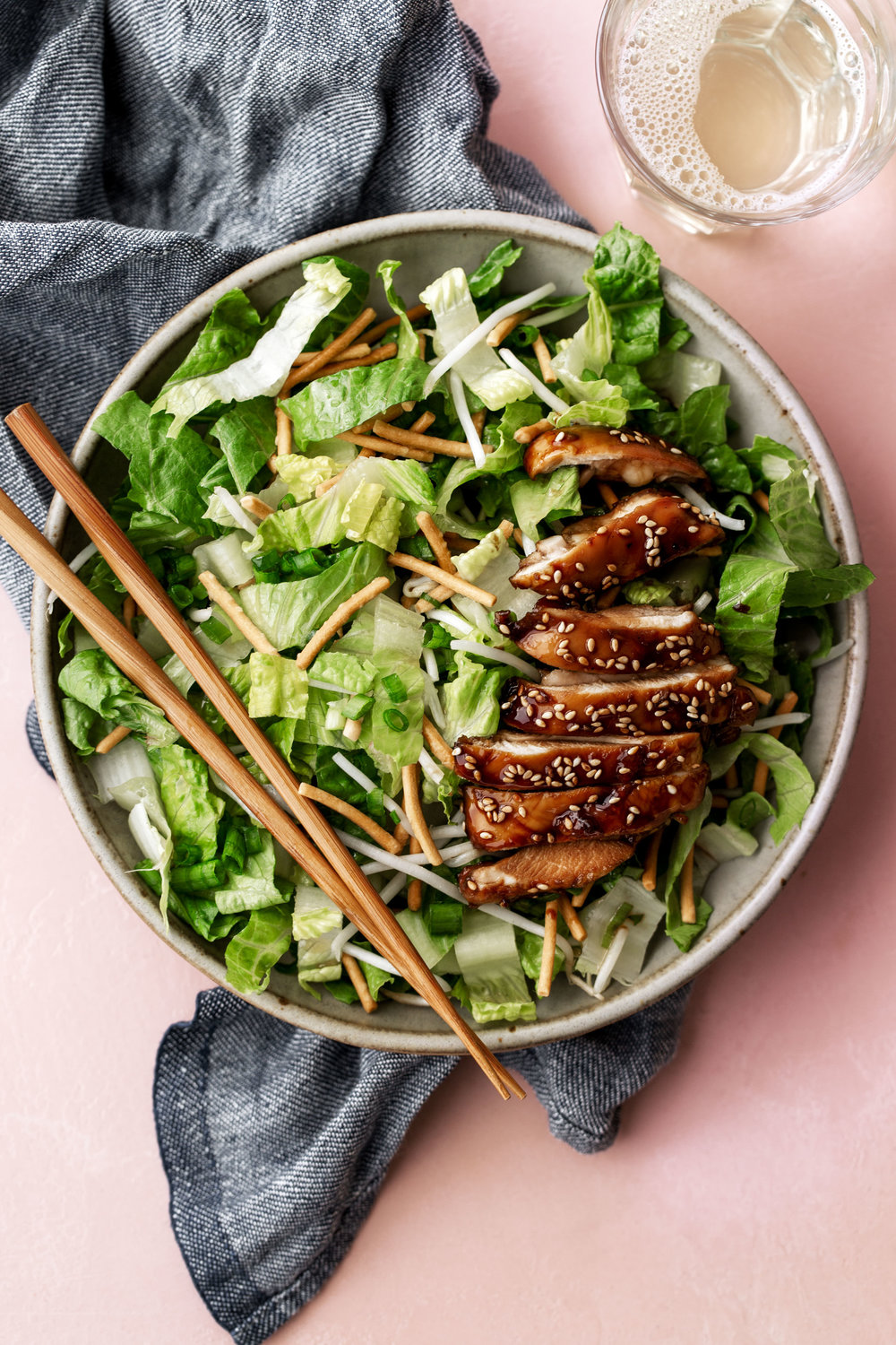Crispy Teriyaki Chicken Salad recipe from Cooking with Cocktail rings