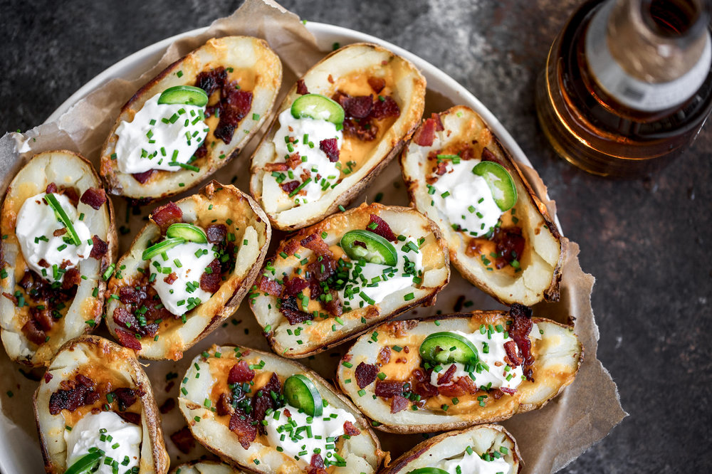 game day potato skins