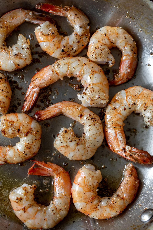shrimp scampi cooked shrimp