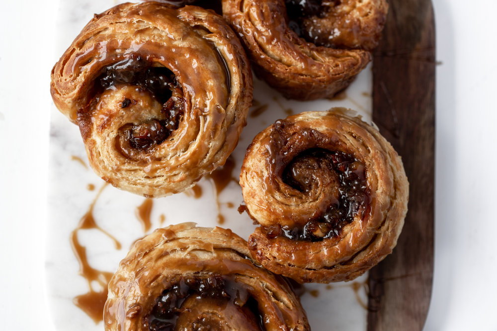 Sticky Toffee Morning Buns recipe from cooking with cocktail rings
