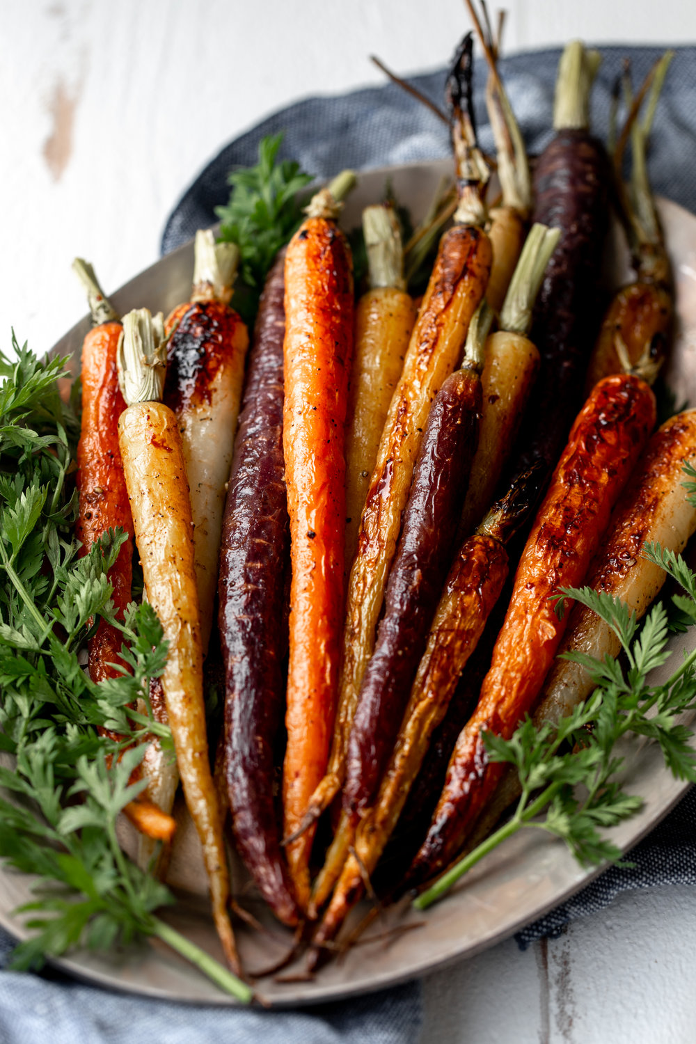 honey roasted carrots recipe from cooking with cocktail rings closeup
