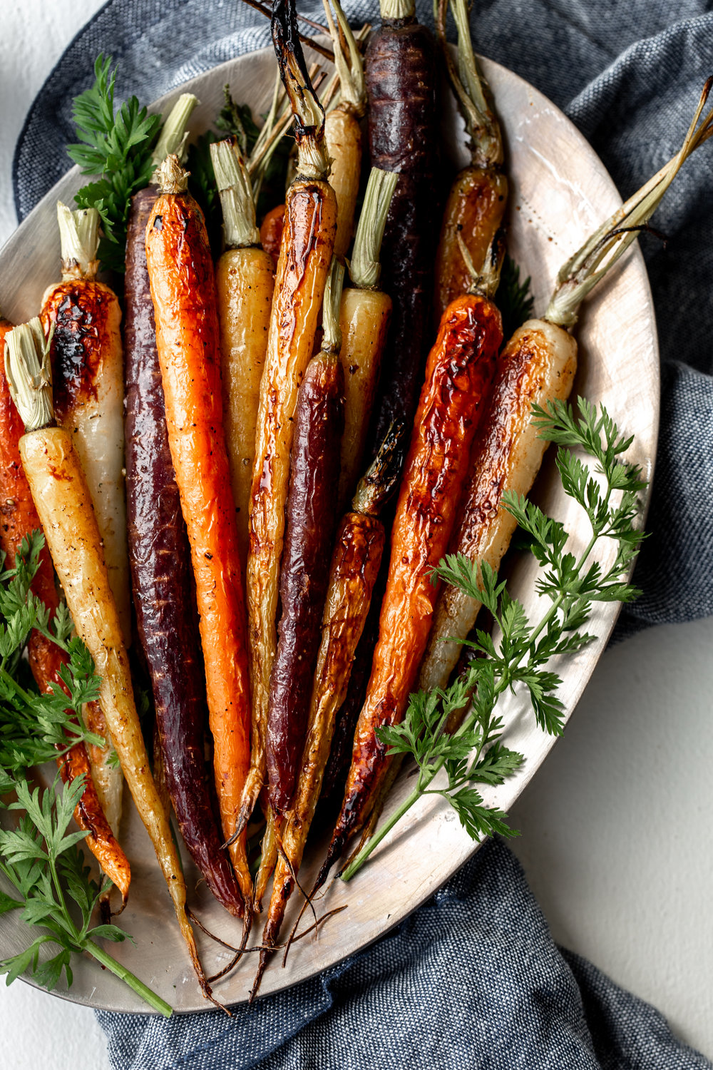 honey roasted carrots recipe from cooking with cocktail rings closeup vegetable shot