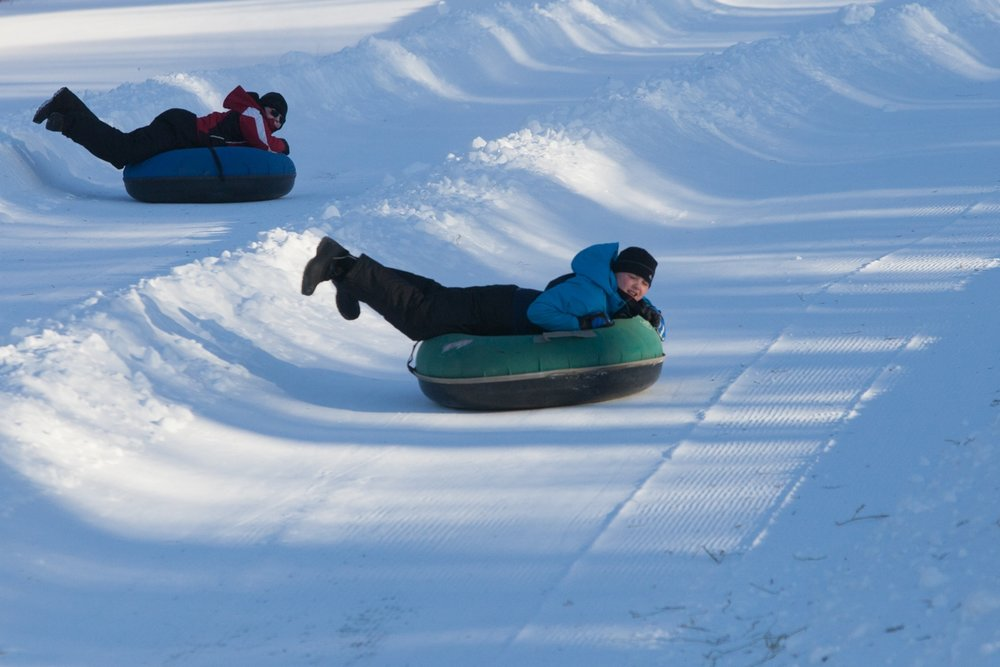 TUBE PARK RULES: - -Children must be at least 4 years old to tube.-Each person must ride in their own tube.-Open to ages 10+ without adult supervision.-Ages 4-9 must be accompanied by an adult.-Ski boots are not permitted.-Tickets are not transferable.