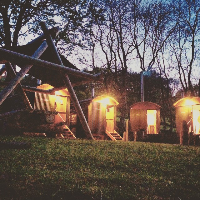 Stayed in these plush huts last night, amazing to be sleeping out in the middle of the Brecon Beacons!