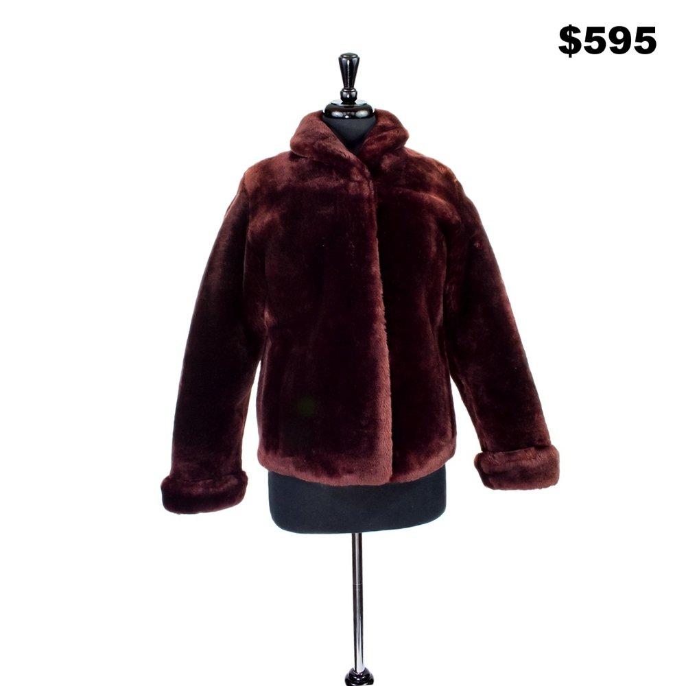 Shaved Shearling Fur Jacket - $595