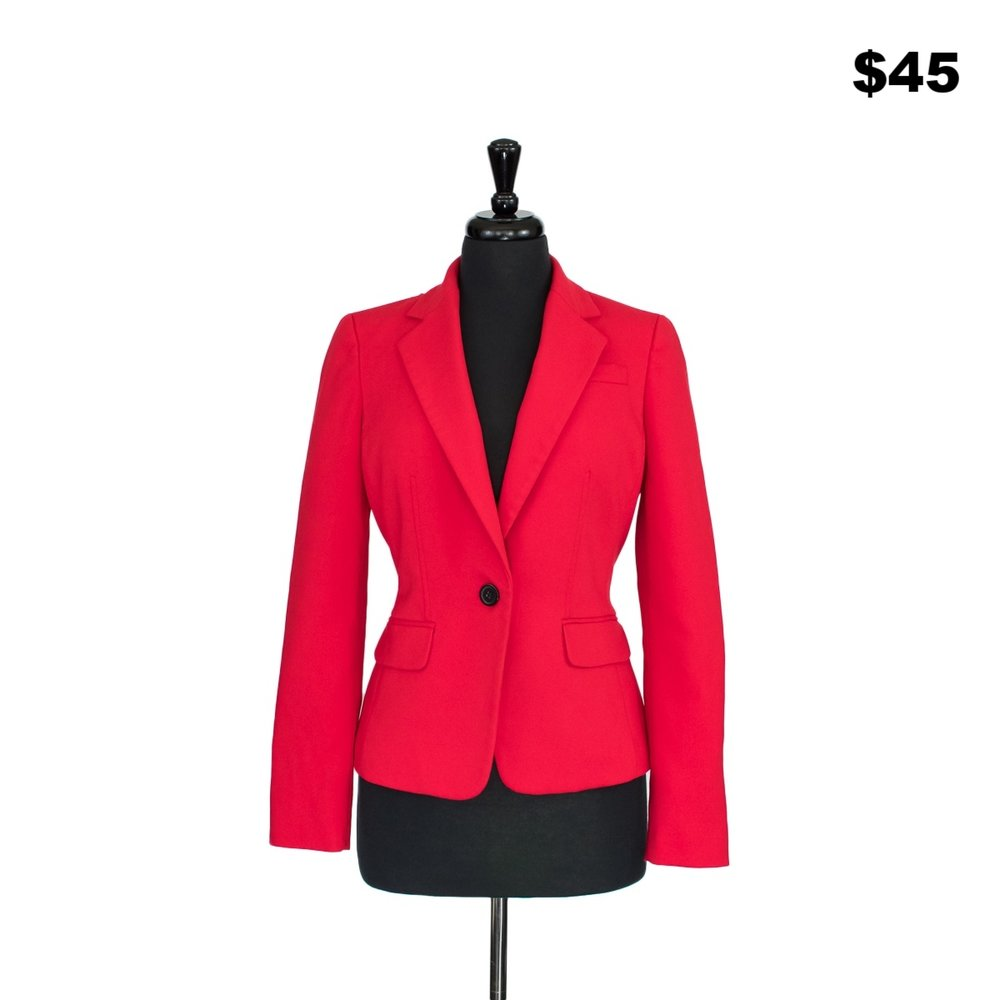 Red Anne Klein Blazer