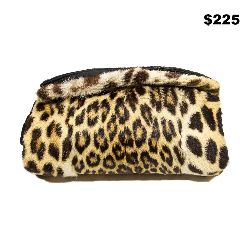 Leopard Ocelot Zip Muff Bag - $225