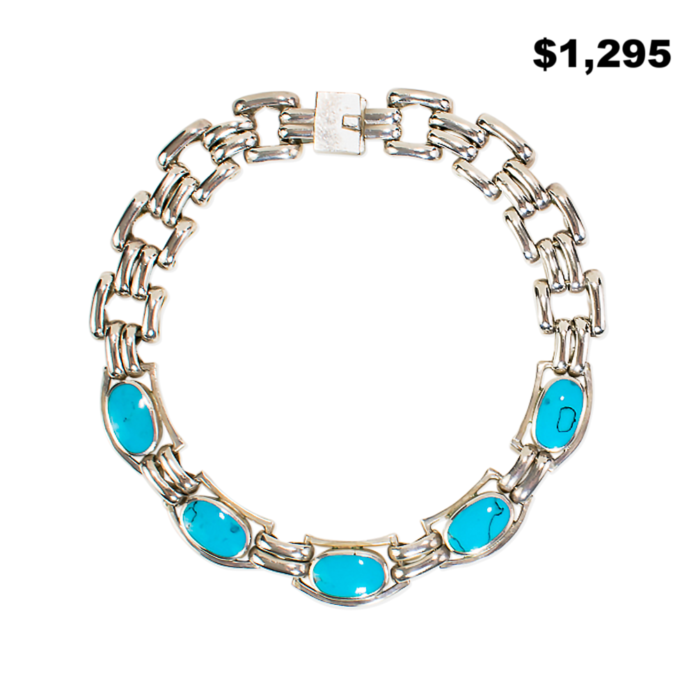 Silver and Turquoise Necklace - $1,295