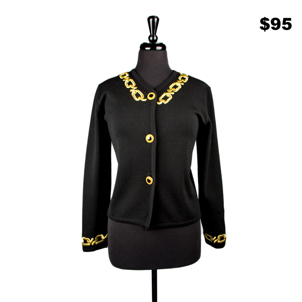 Gold Chain Sweater - $95