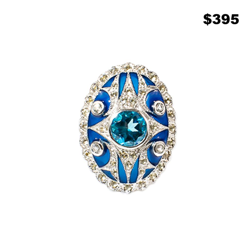 London Blue Topaz Ring - $395