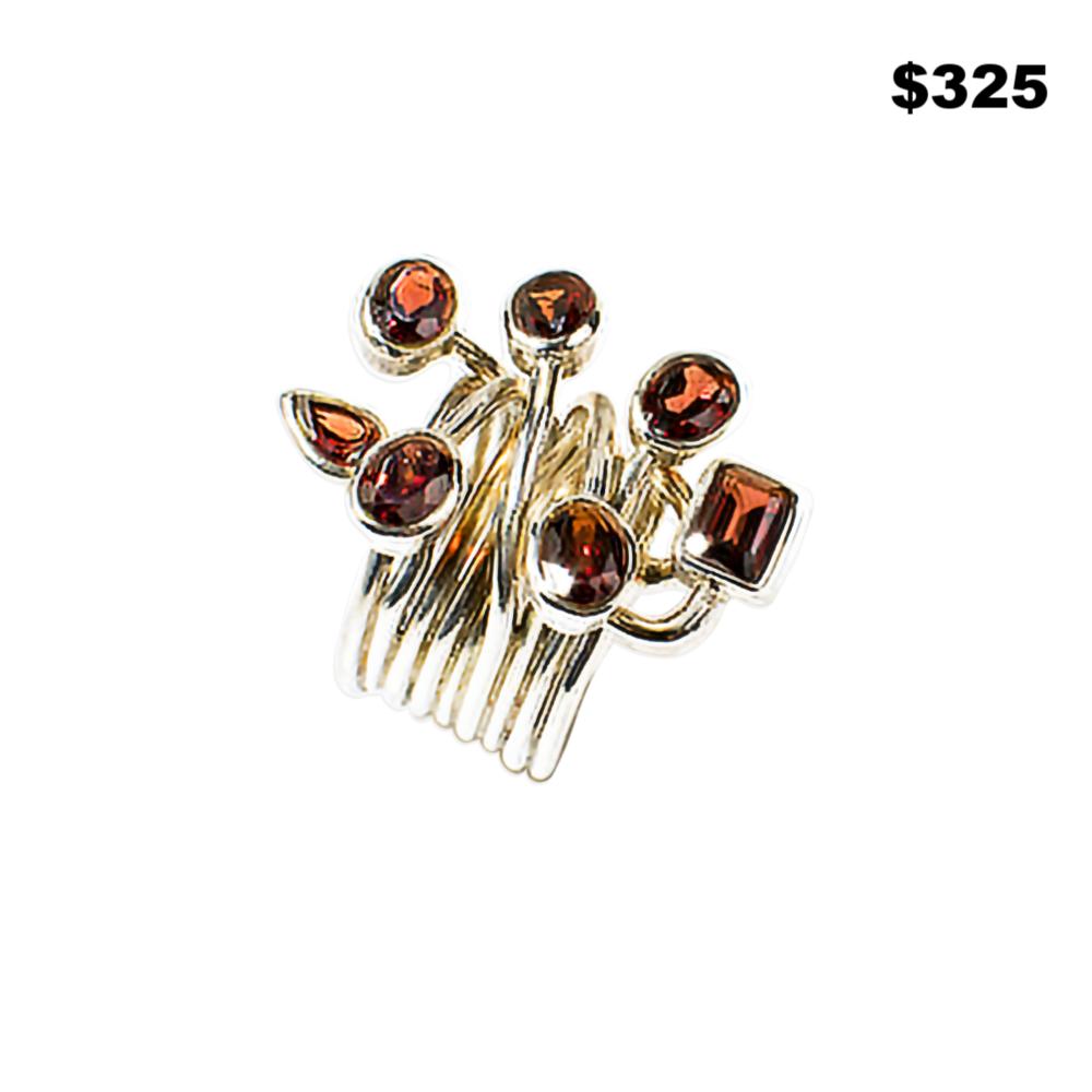 Garnet Wire Ring - $325