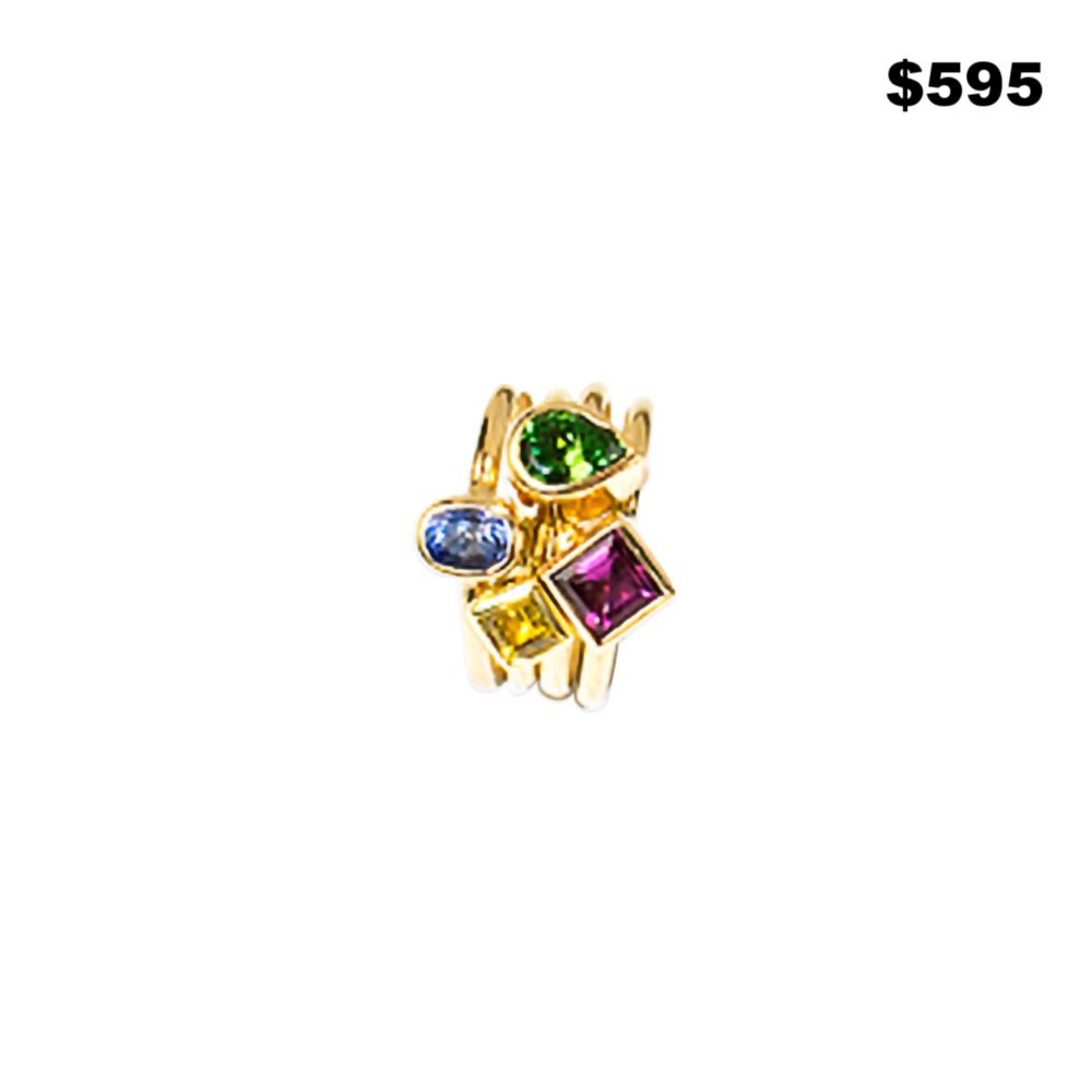 Semi-Precious Stack Rings - $595