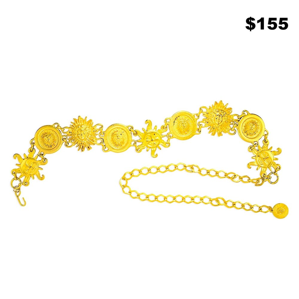 Sun & Moon Gold Belt - $155