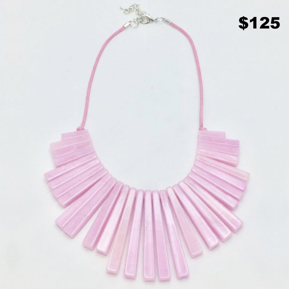 Pink Geometric Necklace
