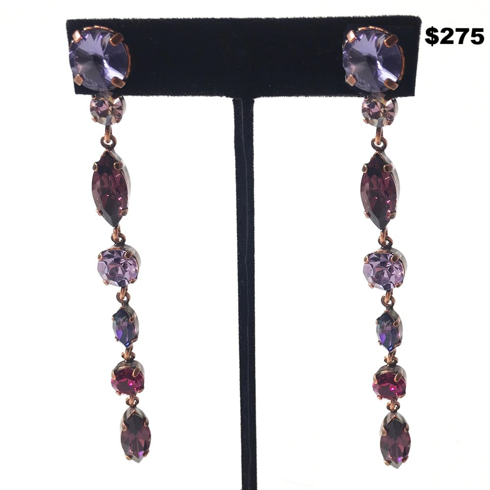 F. Montague Purple Crystal Earring