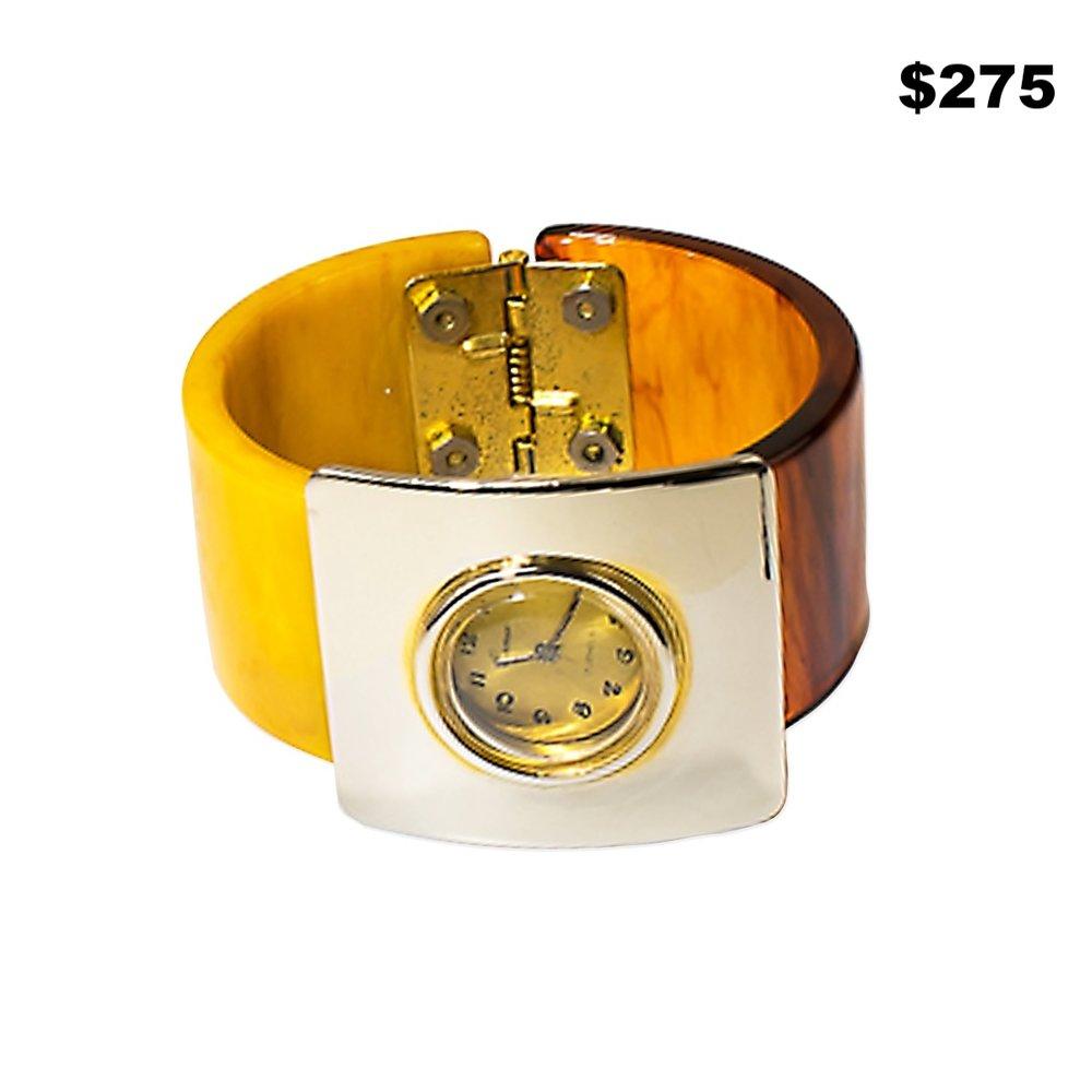 Bakelite Butterscotch Watch - $275