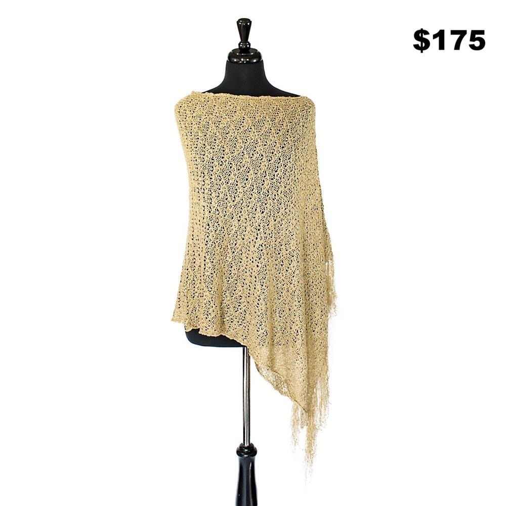Fringe Sweater Poncho - $175