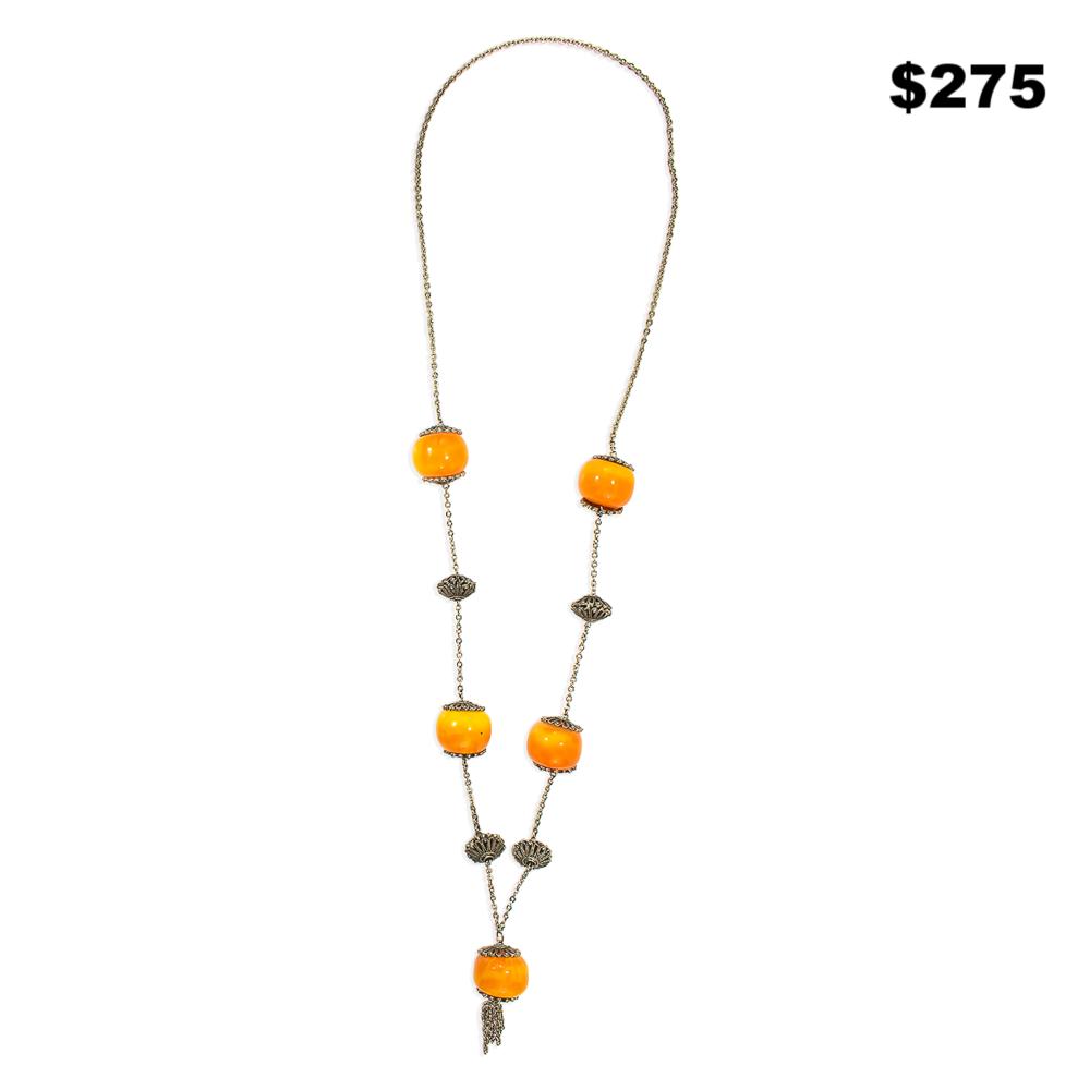Butterscotch Bakelite Necklace - $275